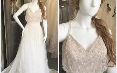Gorgeous new arrival for our Justin Alexander Trunk Show.  This and many other samples will be in store this weekend only! Don't miss out on seeing the entire new collection!! Book your appointment today. 845-765-2900 #justinalexander #justinalexandertrunkshow